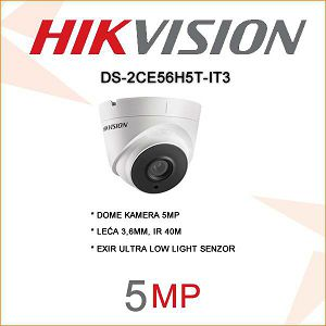 HIKVISON 5MP MINI DOME KAMERA40M IR