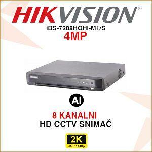 HIKVISION ACUSENSE 4MP 8 KANALNI DIGITALNI VIDEO SNIMAČ iDS-7216HQHI-M1/S
