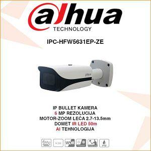 DAHUA 6MP WDR IR MOTOR-ZOOM BULLET AI KAMERA ZA VIDEONADZOR IPC-HFW5631EP-ZE