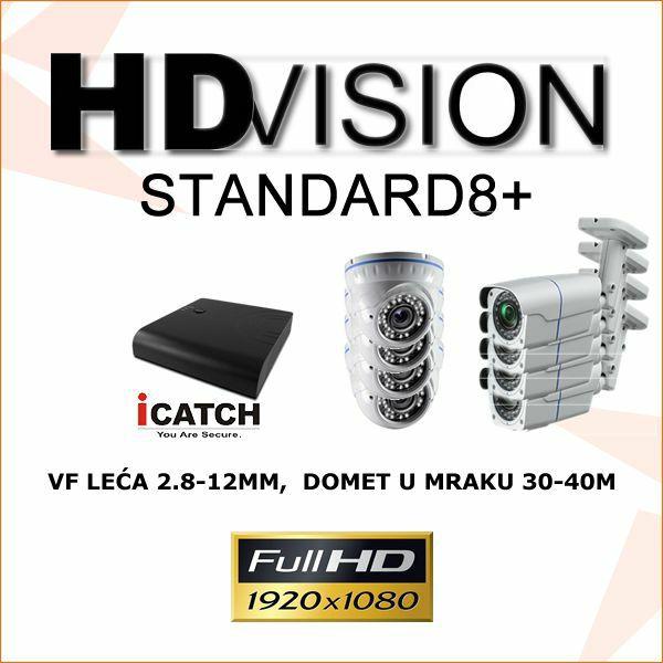 KOMPLET ZA VIDEONADZOR SA OSAM 1080P KAMEREA2.8-12MM