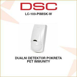 DSC DUALNI DETEKTOR POKRETA LC-103-PIMISK-W