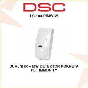 DSC DUALNI IR + MW DETEKTOR POKRETA LC-104-PIMW-W