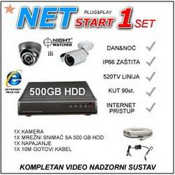 VIDEO NADZOR - NET1START IR520 KOMPLET