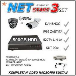 VIDEO NADZOR - NET3START IR520 KOMPLET
