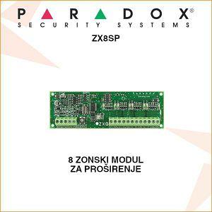 PARADOX 8 ZONSKI MODUL ZA PROŠIRENJE ZX8SP