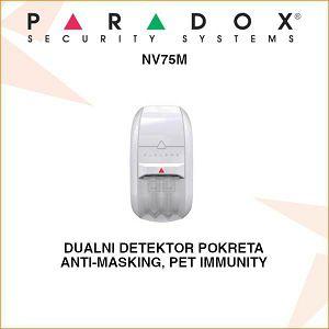 PARADOX DUALNI DETEKTOR POKRETA NV75M