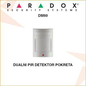 PARADOX ADRESABILNI DUALNI PIR DETEKTOR POKRETA DM50