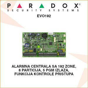 PARADOX ALARMNA CENTRALA EVO192