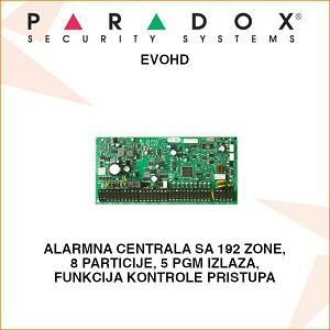 PARADOX ALARMNA CENTRALA EVOHD