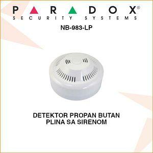 PARADOX DETEKTOR PROPAN BUTAN PLINA SA SIRENOM NB-983-LP