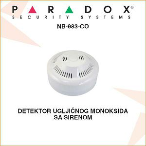 PARADOX DETEKTOR UGLJIČNOG MONOKSIDA SA SIRENOM NB-983-CO