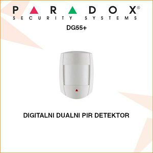 PARADOX DIGITALNI DUAL PIR DETEKTOR POKRETA DG55+
