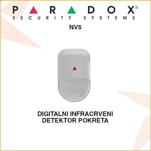 PARADOX DIGITALNI INFRACRVENI DETEKTOR NV5 + NOSAČ