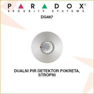 PARADOX DUALNI PIR DETEKTOR POKRETA STROPNI DG467