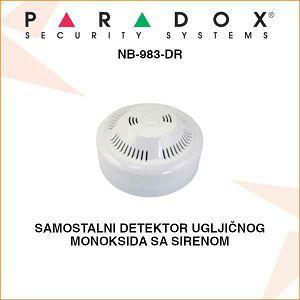 PARADOX SAMOSTALNI DETEKTOR UGLJIČNOG MONOKSIDA NB-930-DR