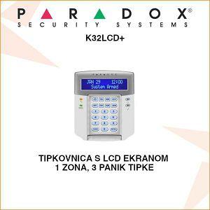 PARADOX TIPKOVNICA S LCD EKRANOM K32LCD+