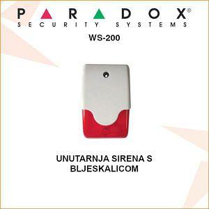PARADOX UNUTARNJA SIRENA S BLJESKALICOM WS-200