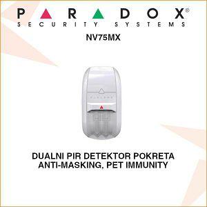 PARADOX ADRESABILNI DUALNI DETEKTOR POKRETA NV75MX