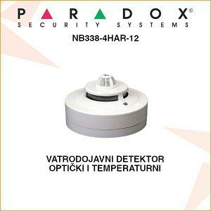PARADOX VATRODOJAVNI OPTIČKI I TEMPERATURNI DETEKTOR NB338-4HAR-12