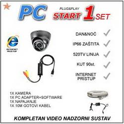 VIDEO NADZOR- PC1START KOMPLET