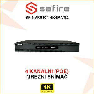 SAFIRE 4K POE 4 KANALNI MREŽNI SNIMAČ SF-NVR6104-4K4P-VS2