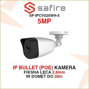 SAFIRE 5MP IP (POE) BULLET KAMERA SF-IPCV025WH-5