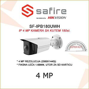 SAFIRE IP 4MP BULLET KAMERA 180 ST.