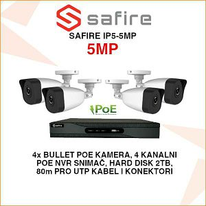 SAFIRE POE 5MP SET ZA VIDEO NADZOR