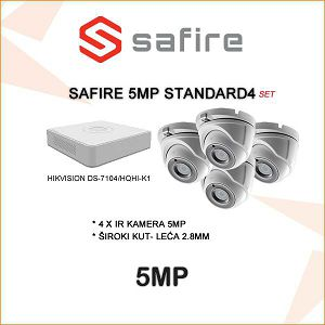 SAFIRE VIDEO NADZOR SET 5MP  PLUG&PLAY