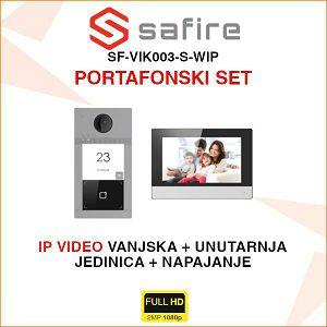 SAFIRE IP PORTAFONSKI KOMPLET SF-VIK003-S-WIP