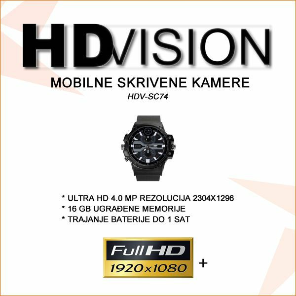 SKRIVENA KAMERA U SATU  ULTRA HD 4.0MP