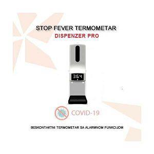STOP FEVER DISPENZER PRO - COVID 19 TERMOMETAR S DISPENZEROM I ALARMOM
