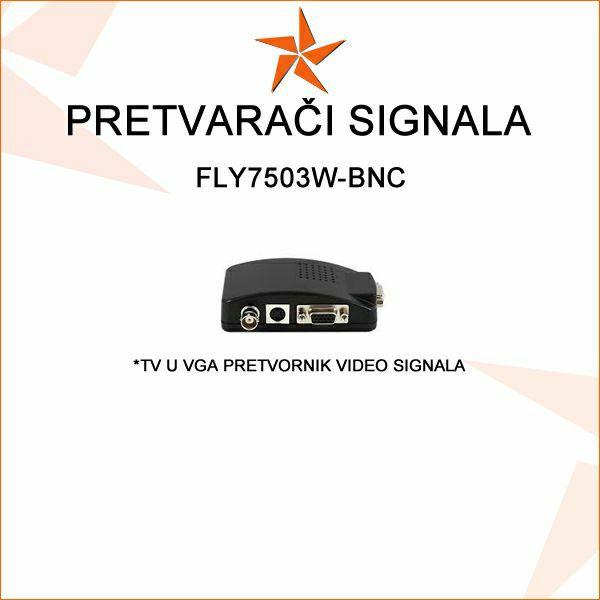 TV (KOMPOZITNI)  U VGA PRETVORNIK - FLY7503W-BNC
