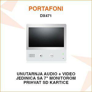 UNUTARNJA JEDINICA ZA PORTAFON SA 7'' LED EKRANOM DX471