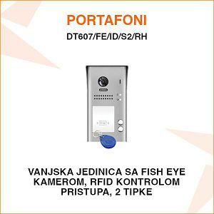 VANJSKA PORTAFONSKA JEDINICA S 2 TIPKE I RFID KONTROLOM PRISTUPA