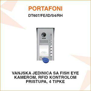 VANJSKA PORTAFONSKA JEDINICA S 4 TIPKE I RFID KONTROLOM PRISTUPA