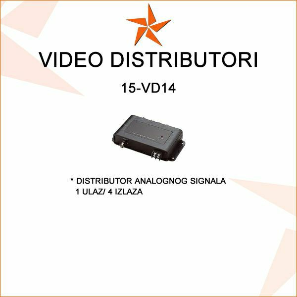 VIDEO DISTRIBUTOR 1 VIDEO ULAZ /4 IZLAZA