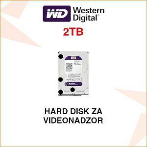 WD PURPLE HARD DISK ZA VIDEONADZOR 2 TB