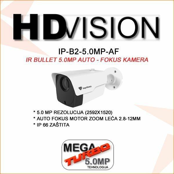 5.0 MP IP H.265  FULL HD POE BULLET MOTOR ZOOM KAMERA ZA VIDEONAZOR HDVISION