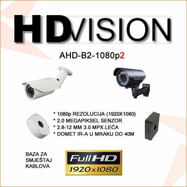 AHD BULLET KAMERA 2.0MP ZA VIDEONADZOR 1080P 2.8-12MM/40M IR