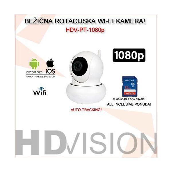 BEŽIČNA WI-FI SMATRPHONE 1080p ROTACIJSKA KAMERA