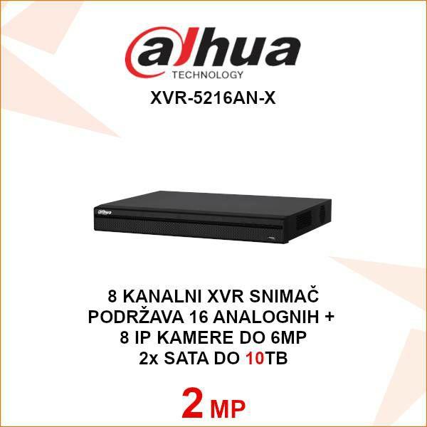 DAHUA 16 KANALNI SNIMAČ 2MP XVR-5216AN-X