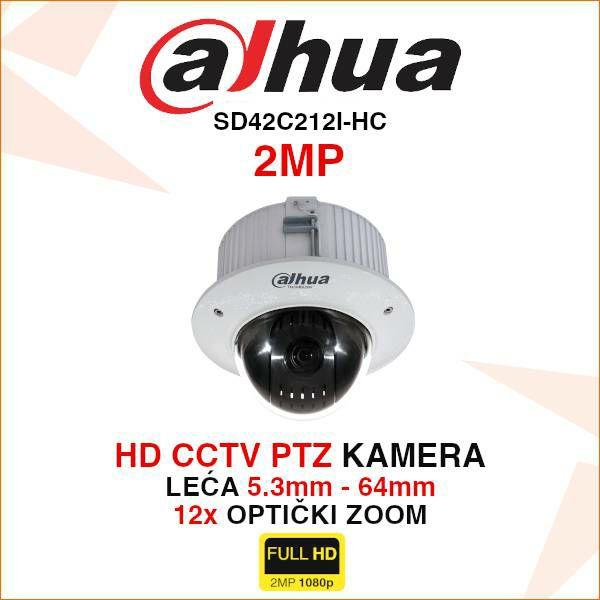 DAHUA 2MP PTZ KAMERA SD42C212I-HC