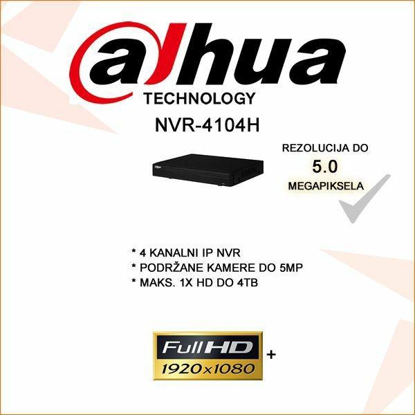DAHUA 4 KANALNI NVR 1080P