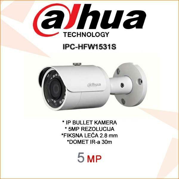 DAHUA 5MP IP BULLET KAMERA ZA VIDEONADZOR IPC-HFW1531S