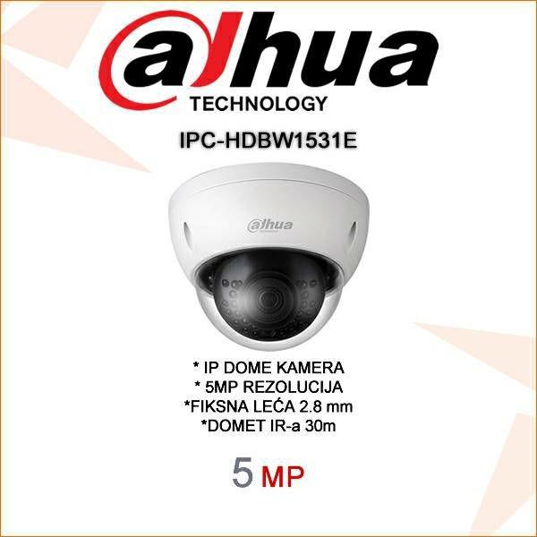 DAHUA 5MP IP DOME KAMERA ZA VIDEONADZOR IPC-HDBW1531E