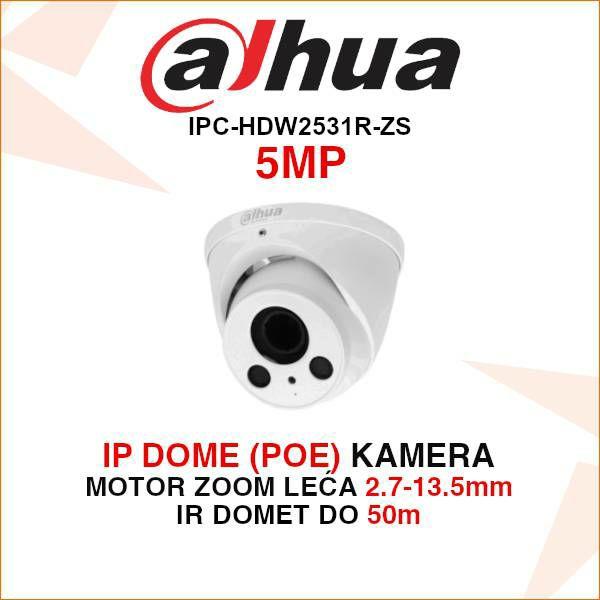 DAHUA 5MP IP DOME KAMERA ZA VIDEONADZOR IPC-HDW2531RP-ZS