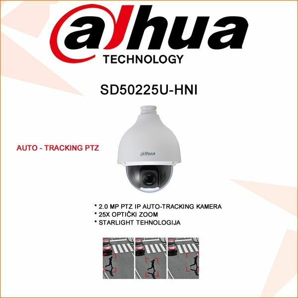 DAHUA AUTO-TRACKING  PTZ IP KAMERA ZA VIDEO NADZOR