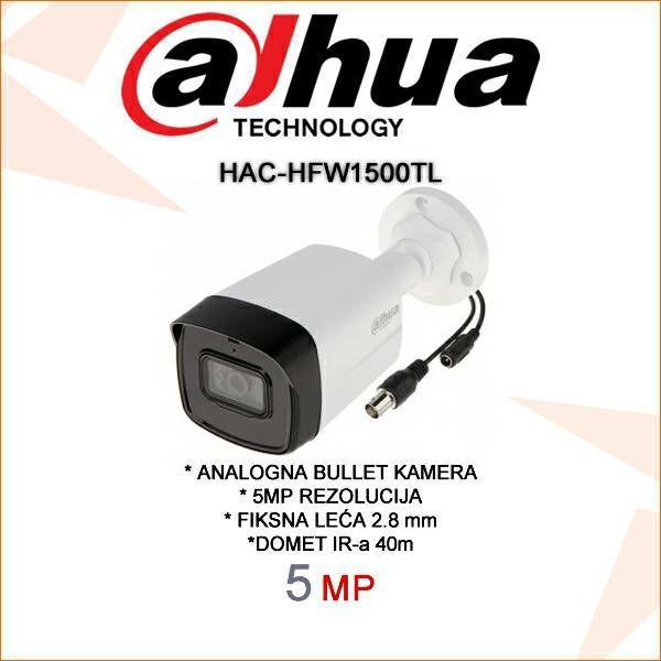 DAHUA CVI BULLET KAMERA ZA VIDEONADZOR 5MP HAC-HFW1500TL