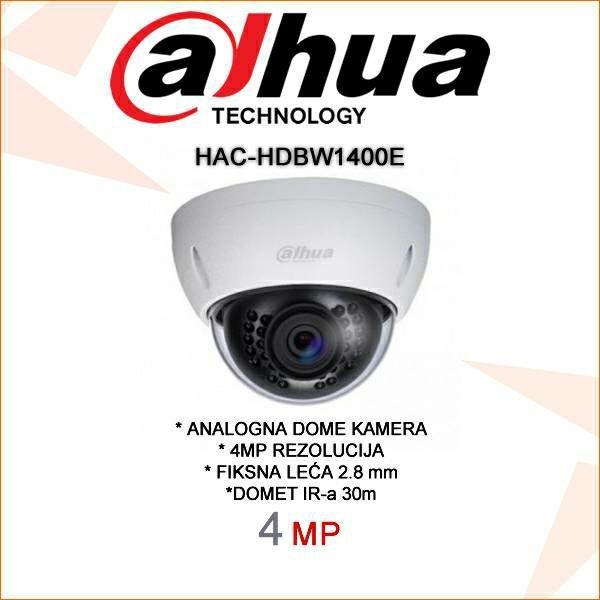 DAHUA CVI DOME KAMERA ZA VIDEONADZOR 4MP HAC-HDBW1400E